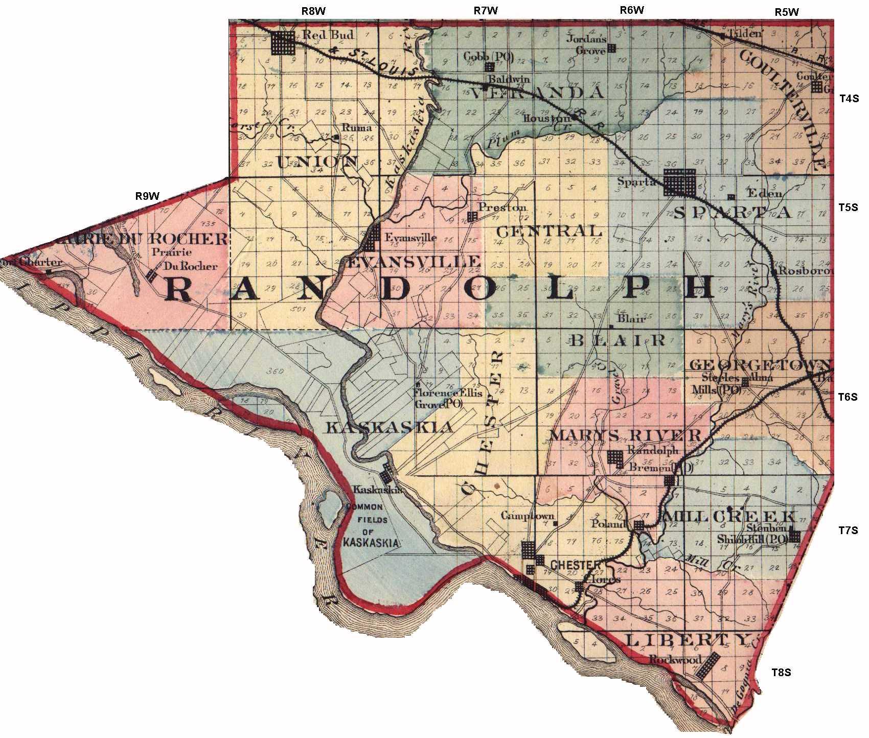 Illinois randolph county baldwin - Randolph County Il