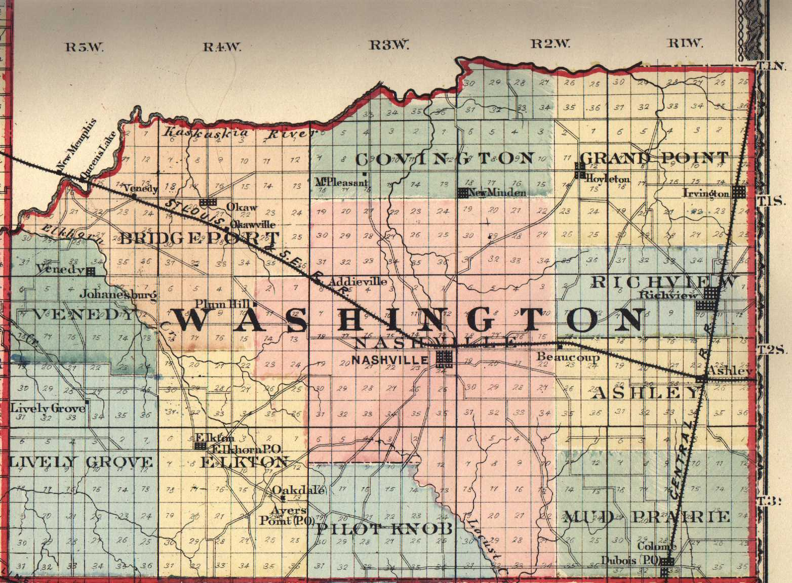 Illinois washington county addieville - Washington County Il